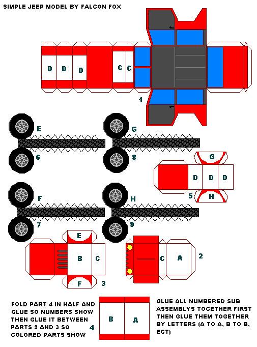 paper model Jeep