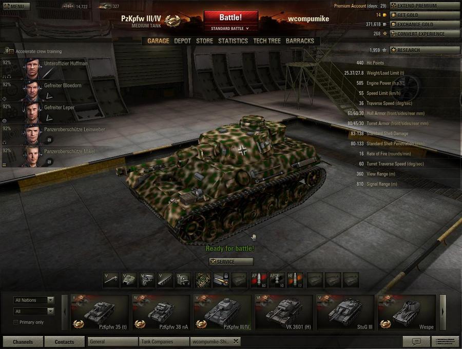 My World of Tanks PzIII_IV by falcon01