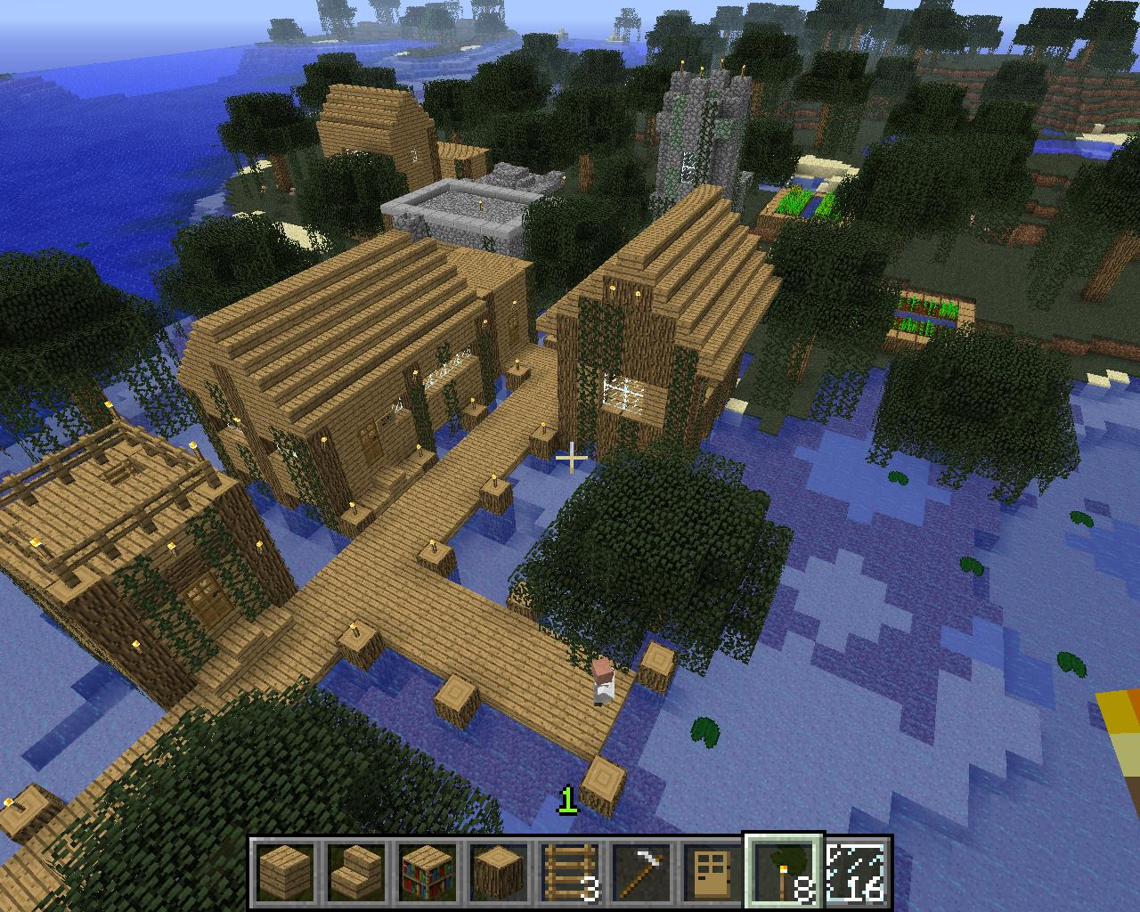 Minecraft screenshots - swamp village 1 by falcon01