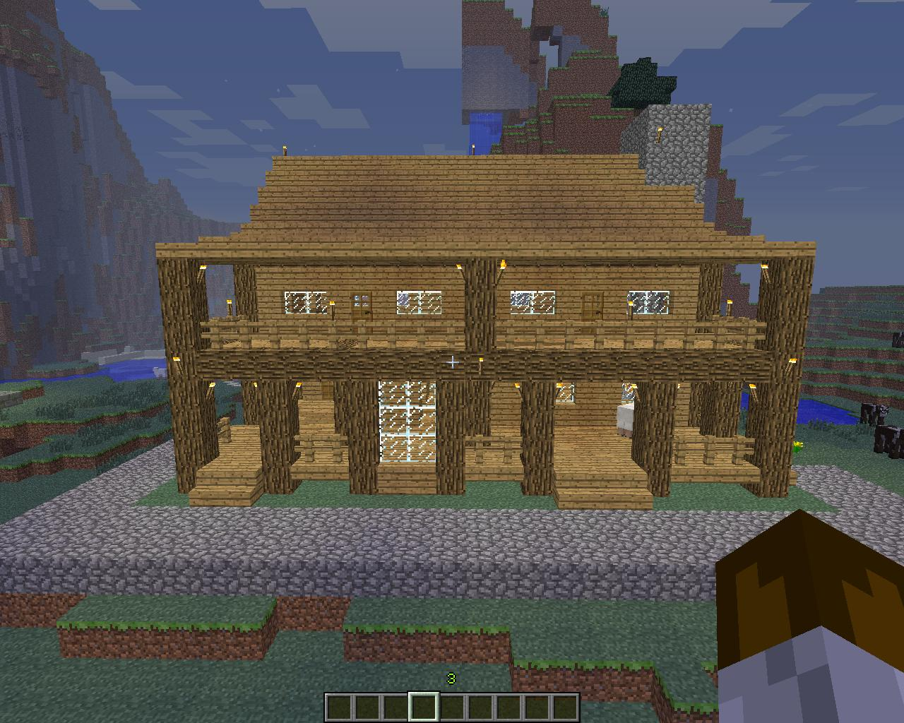 how to build a farmhouse in minecraft pe