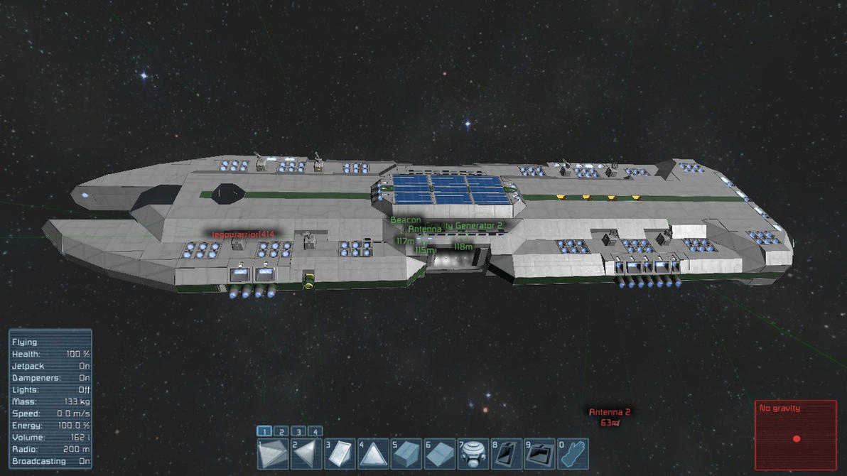 Space Engineers Large Mining Mothership by falcon01