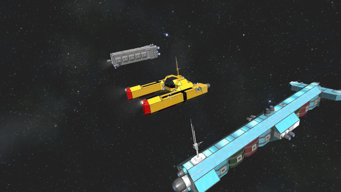 Space Engineers CTA Ship size comp by falcon01
