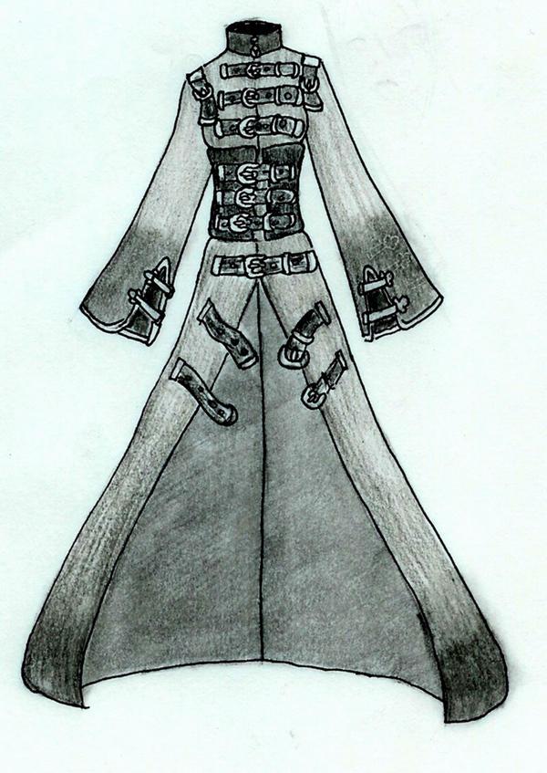 Anime Coat Design Trench Coat Design 01 by
