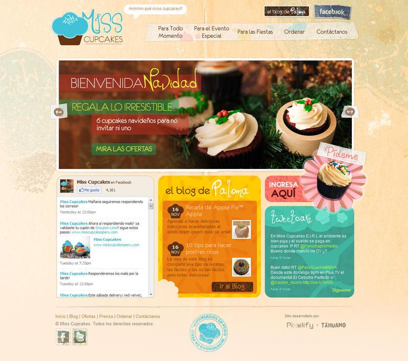 Miss Cupcakes Website by drarock