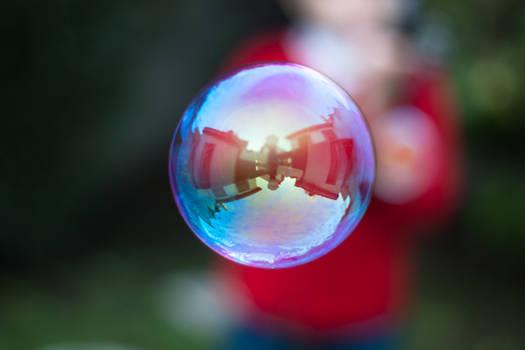 Blueish, purplish bubble