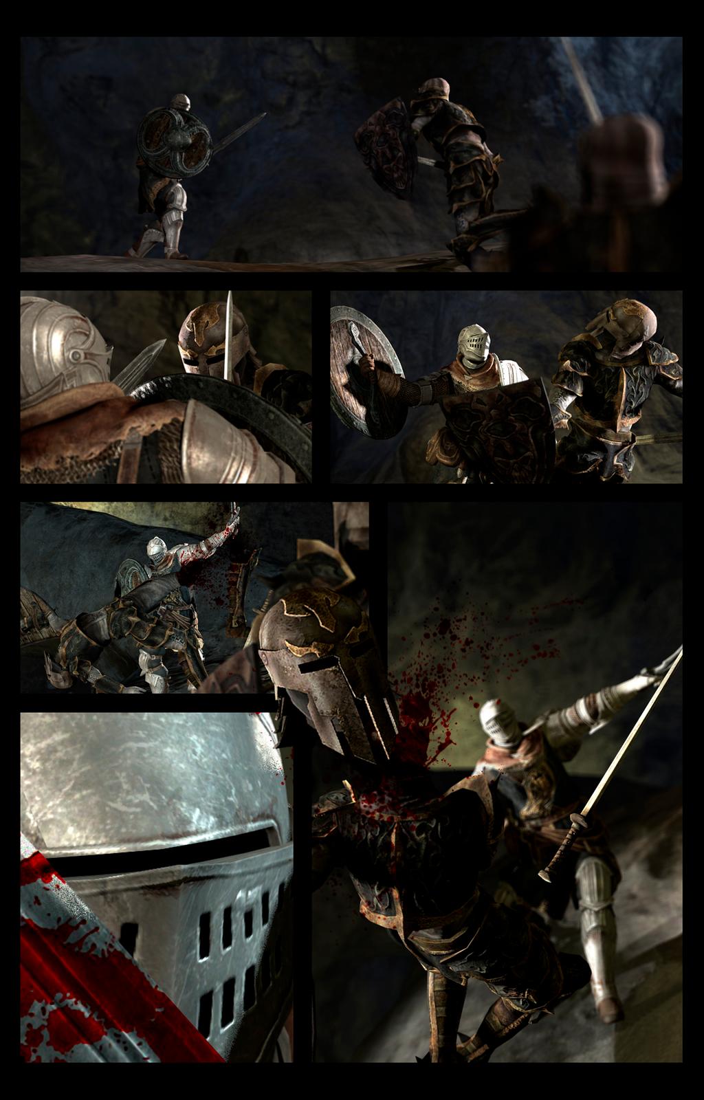 Dark Souls dude vs Vampire Knigths by TheMegarinat