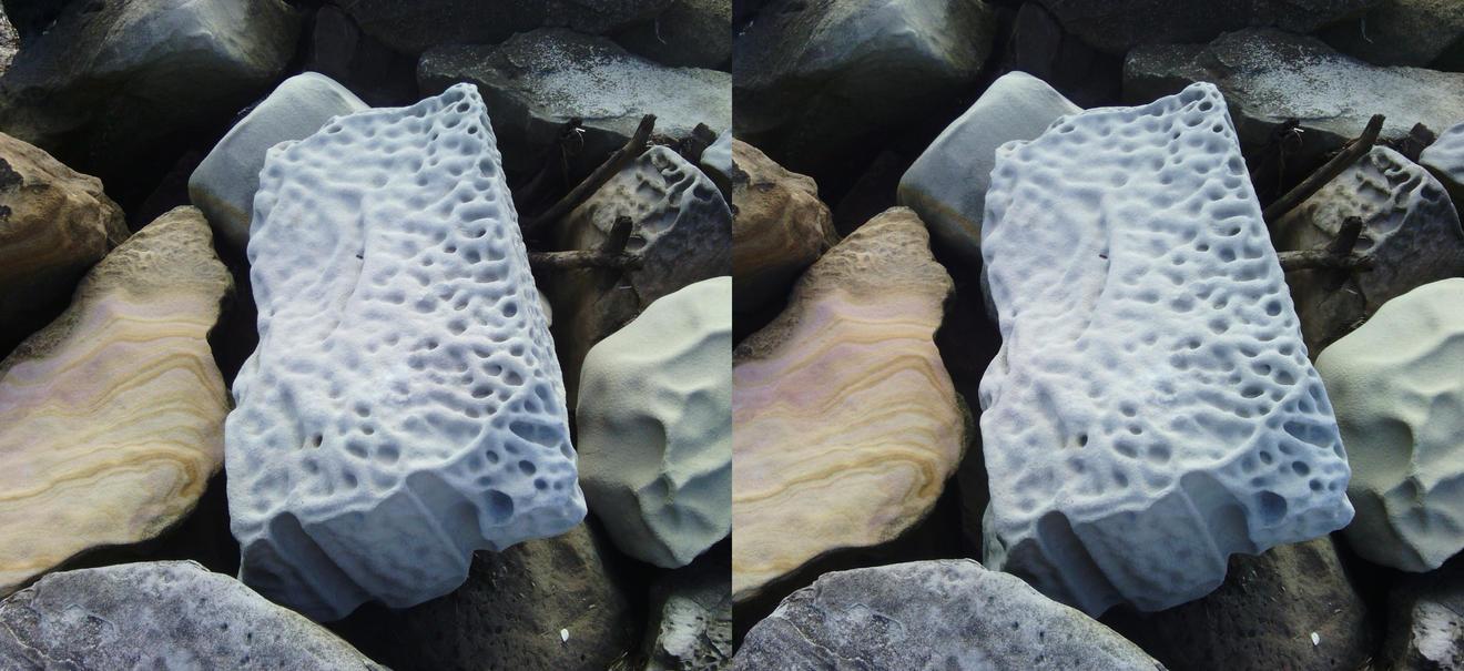 Gosford rocks (cross-eye 3D stereogram) by Rahball