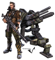 Borderlands 2: Axton Render by villafj