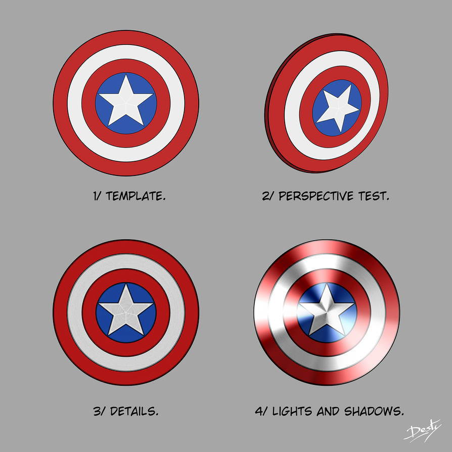 Captain America Shield Template By Destybox