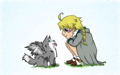 Vuwer and Puppy by RayanDante