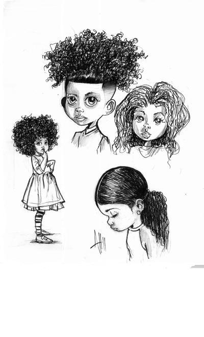 kid sketch studies by ArmaniStyles