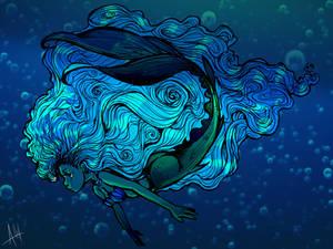 Mermaid Character Concept Design