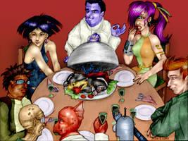 Futurama- Dinner at Elzars by femjesse