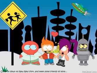 Futurama- South Park Style by femjesse