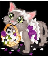 Flower Girl Kitten by femjesse
