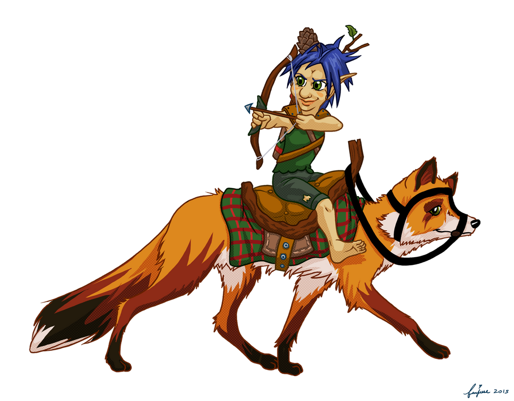 Badger Brownfoot, Gnome Ranger by femjesse