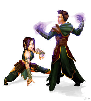Rix'arel and her half-brother Fernal