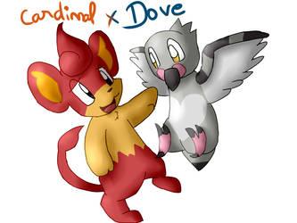 Fanart : Cardinal and dove by Blitz-o-Byte