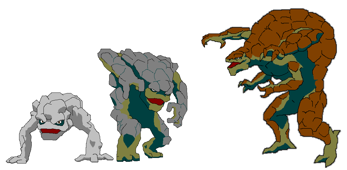 Geodude Evolution by theFingers on DeviantArt