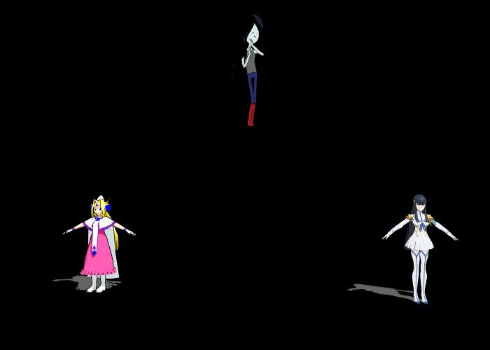 MMD Hexafusion Marceline Filia and Satsuki Kiryuin by Solomen