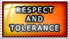 Stamp: Respect And Tolerance