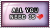 Stamp: All You Need is Love by 8manderz8