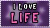 Stamp: I love Life by 8manderz8