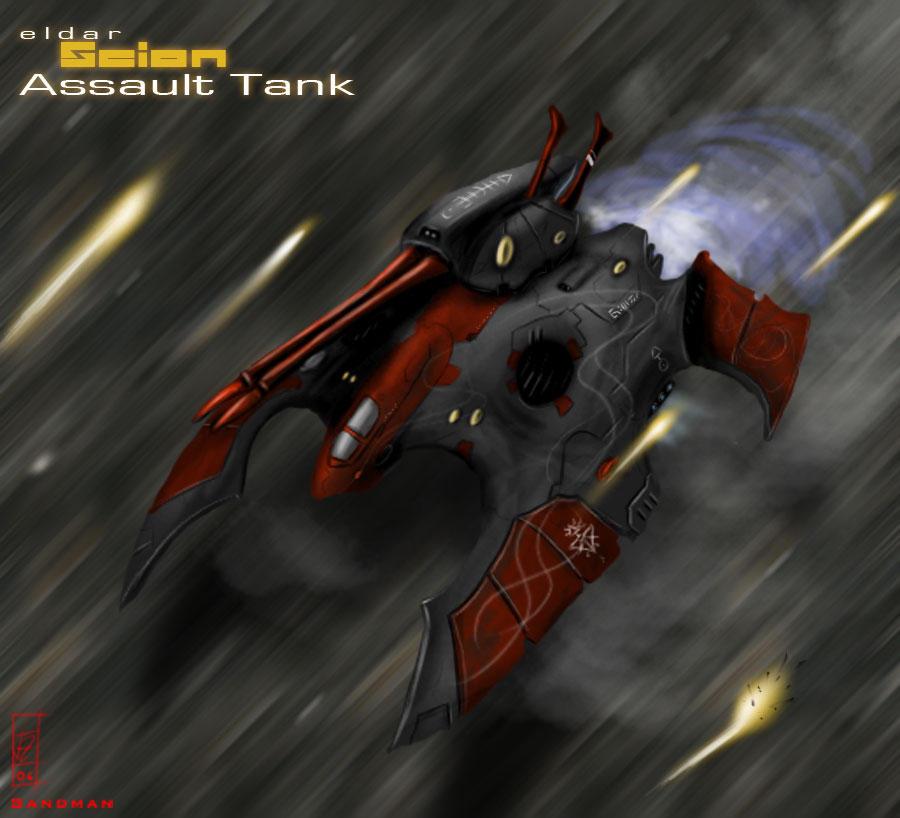 Eldar Scion Assault Gravtank by Addinarr