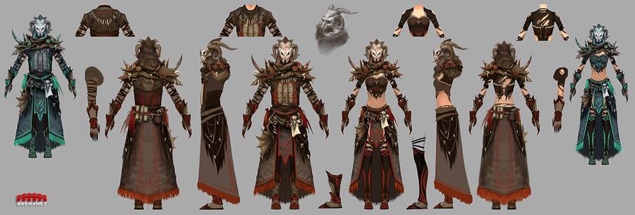 Guild Wars 2 Light Armor by YeeWu
