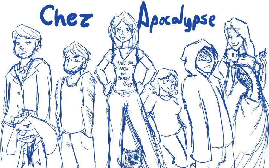 Chez Apocalypse sketch by jluvswicked