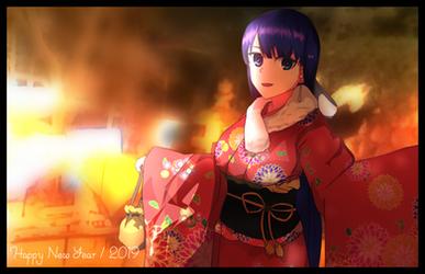 Japanese new year style Saint Martha by RaftXaus