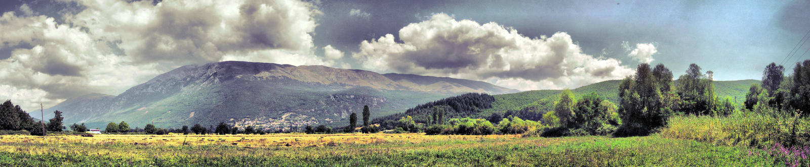 meadow and a mountain by Damir-Olejar