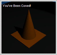 You've been coned