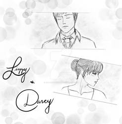Lizzy and Darcy Sketch