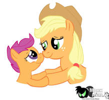 Applejack and Scootalo, strong friendship by MarKAnime