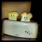 Today we have toast for breakfast