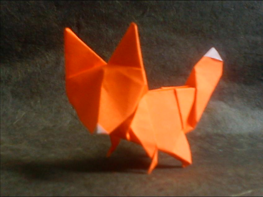 origami fox by haditahir on deviantart