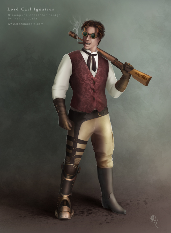 Lord Carl Ignatius (Steampunk time traveller) by MCVisuals