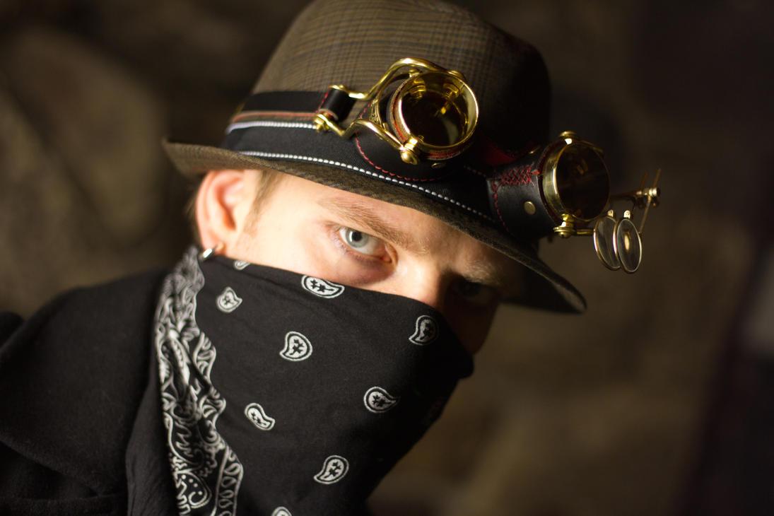 Steampunk Headshot by ElykAerPhotography