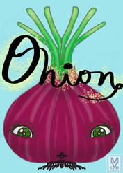 Friuts and veggies series-Onion by MaggieRaven