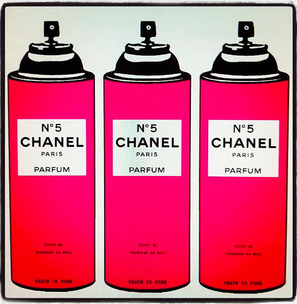 Pink chanel logo