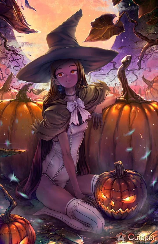 Pumpkin Watching by StudioCutepet