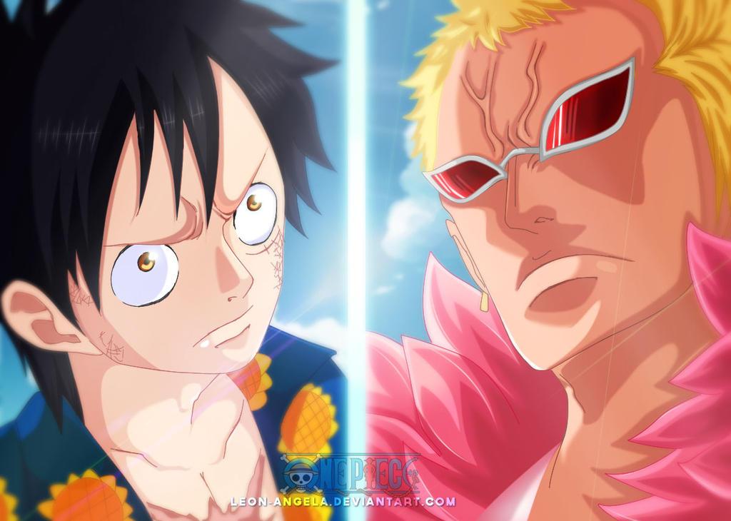 Luffy VS Doflamingo - One Piece 781 by LEON-ANGELA