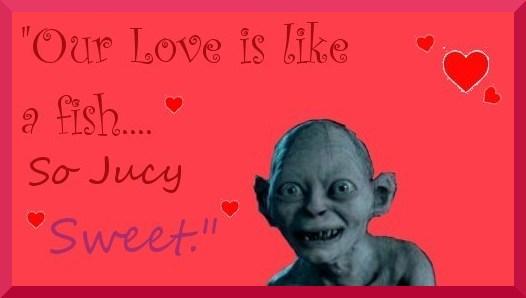 Gollum valentines day. by kworking