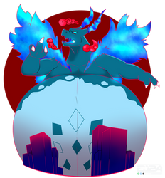 Gigamax Mike the Shiny Blue Charizad
