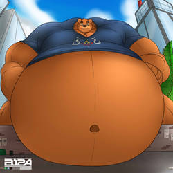 YCH - Big bearbun boy on the City