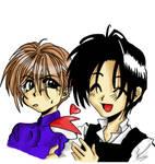 Hisoka and Tsuzuki coloured