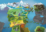 Map of Equestria - Textless