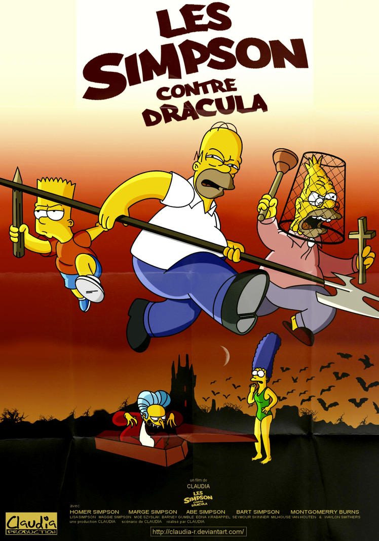 Les Simpson Contre Dracula by Claudia-R