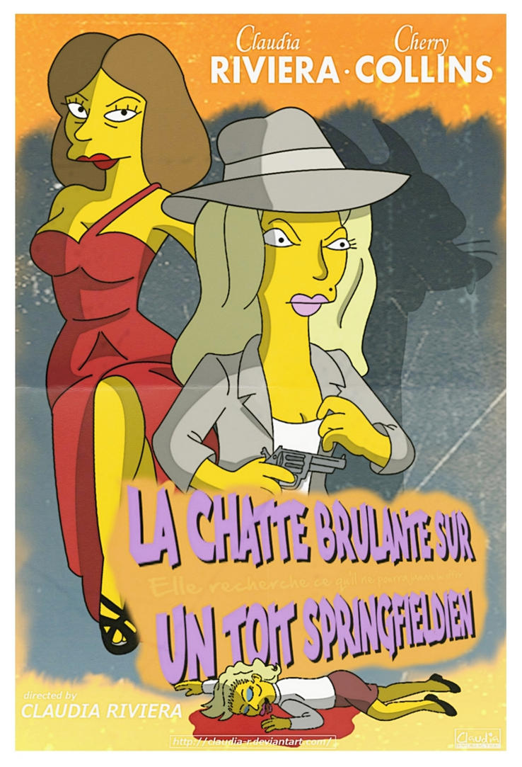 The Springfieldian Pussycat - French Poster by Claudia-R